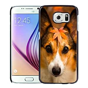New Personalized Custom Designed For Samsung Galaxy S6 Phone Case For Cute Puppy In Autumn Phone Case Cover