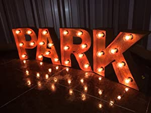 vintage black iron rustic marquee letters from a z 18 tall