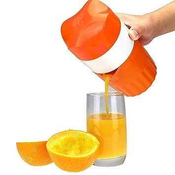 Compra LARRY SHELL Exprimidor Manual Citrus Orange Squeezer Prensa de la Tapa de rotación Reamer para limón Lima Pomelo con colador y Recipiente en Amazon. ...