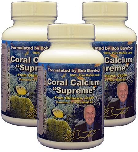 Bob Barefoot S Coral Calcium Supreme, 3 Count by Bob Barefoot s