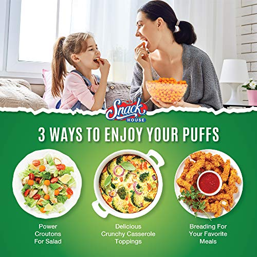 Snack House High Protein Low Carb Keto Snacks, Gluten Free Healthy Protein Puffs - No Sugar Added, Savory Diet Food for Adults and Kids, Jalapeño Cheddar, 7 Servings 5