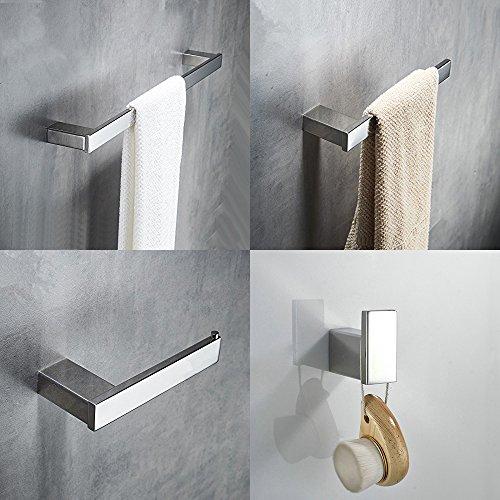 "Hiendure 4-Piece Bathroom Accessory Set With 23"" Towel Bar,T"
