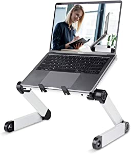 RAINBEAN Adjustable Laptop Stand Table for Office,Portable Lap Desk Stand Compatible Notebook Tablets MacBook,Foldable Lift Bracket Aluminum Ergonomics Design,Office or Home Desk Suitable for Ipad