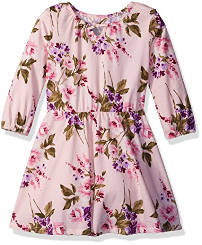 The Children's Place Big Girls' Long Sleeve Peasant Dress, Crystal Pink, M (7/8)