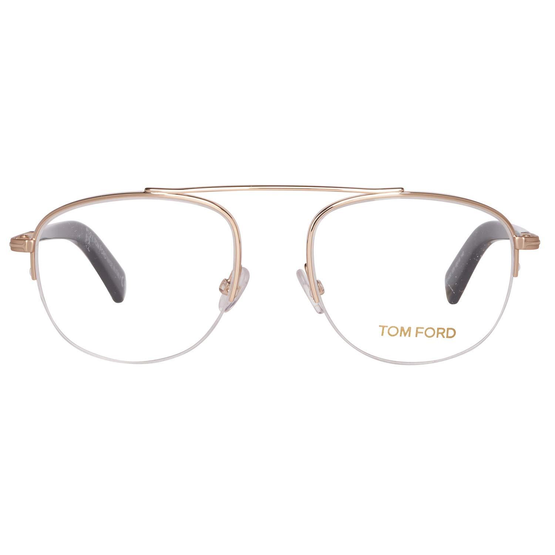 1c2f16c09a6 Amazon.com  Eyeglasses Tom Ford FT5450 V 028 semi rimless Size 49 19 140   Clothing