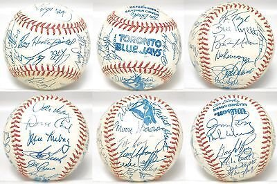 Toronto Blue Jays Multi Signed Baseball 30 AUTO 's Skowron Perry + JSA ALOA - Multi Signed Baseball