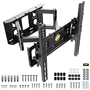 RICOO S6244 Support Murale TV Orientable Inclinable Universel 32-55″ (81-140cm) Fixation Mural Télévision LED/LCD/Incurvée VESA 200×200-400×400