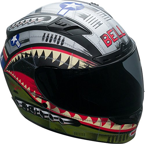 Face Profile Full Helmet (Bell Qualifier DLX Full-Face Motorcycle Helmet (Matte Devil May Care, Small))
