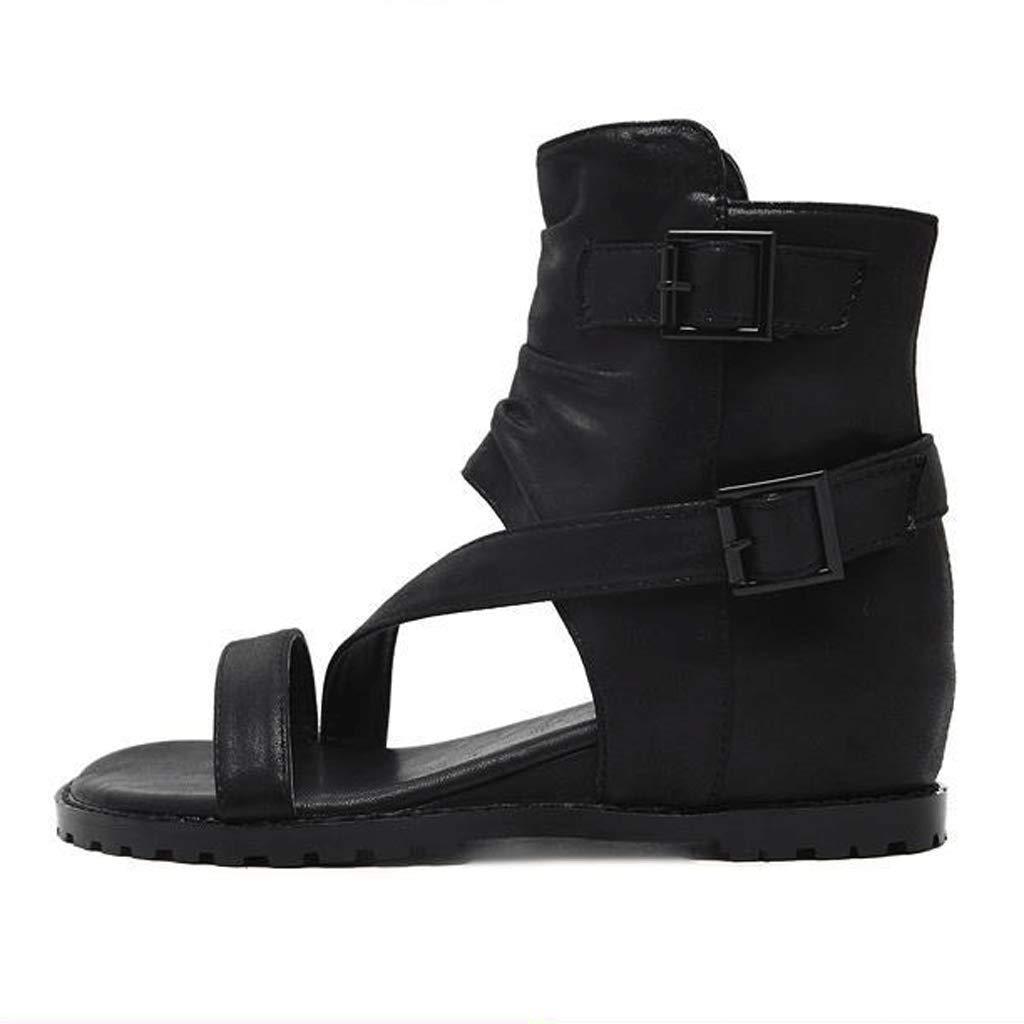 Flache Sandalen Frauen Sommer Offene Zehe Zehe Zehe Roman Schuhe Seitlicher Reißverschluss (Farbe   2 , größe   EU36 UK3.5 CN35) 19548f