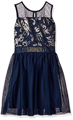 Amy Byer Girls Big Party Dress with Sequins