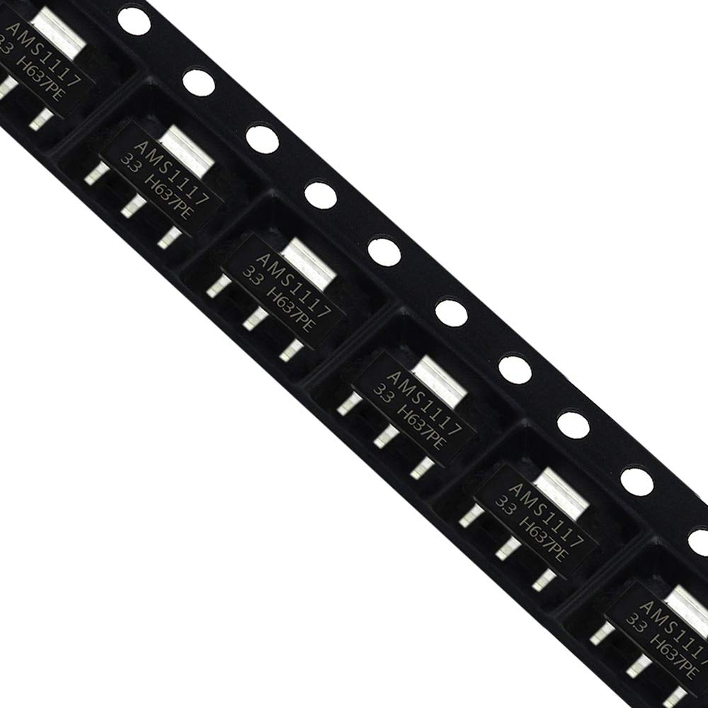 KIMME 10Pcs AMS1117-3.3 AMS1117-3.3V AMS1117 LM1117 1117 Voltage Regulator