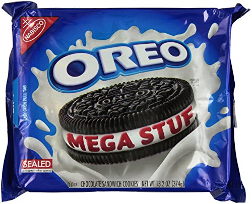 Oreo MEGA STUF Creme Sandwich Cookies 13.2 Oz. (2 Pack)