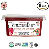 Once Upon A Farm Organic Stage 3 | Baby Food Beauty and the Beet Cups | Cold Pressed | Refrigerated | For 9+ Months | Pack of 8