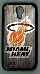 LZHCASE Case for Samsung Galaxy S4 - NBA Miami Heat in Wood Background