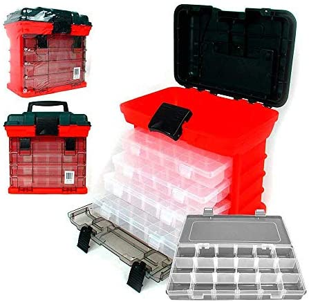 Rack System Tool Box with 4 Organizers 11-Inch