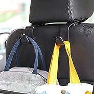 Amooca Car Hook, Seat Headrest Hook 2/4 Pack Hanger Storage Organizer, Universal Hanger Hook for for Handbag P