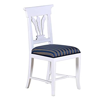 Stuhl Blätter Mahagoni weiß Landhausmöbel Stilmöbel Esszimmerstuhl ...
