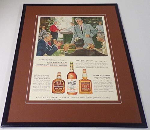 1956 Kentucky Tavern Whiskey Framed 11x14 ORIGINAL Vintage -