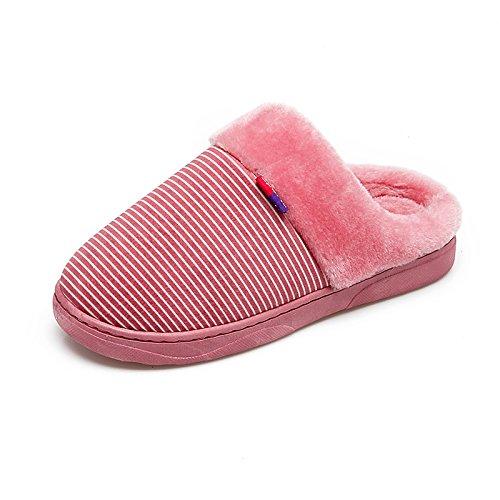 CWAIXXZZ pantofole morbide Inverno caldo cotone femmina pantofole indoor scarpe soggiorno confortevole e morbido antiscivolo pantofole di peluche coppie, uomini pantofole ,36-37 (di solito 34-36), il