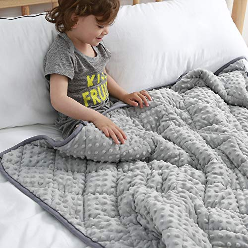 Cheap MAXTID Weighted Blanket for Kids 5lbs 36x48 Toddler Heavy Blanket Innovative One Piece Design for Boys and Girls Black Friday & Cyber Monday 2019