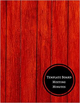 amazon template board meeting minutes minutes log journals for