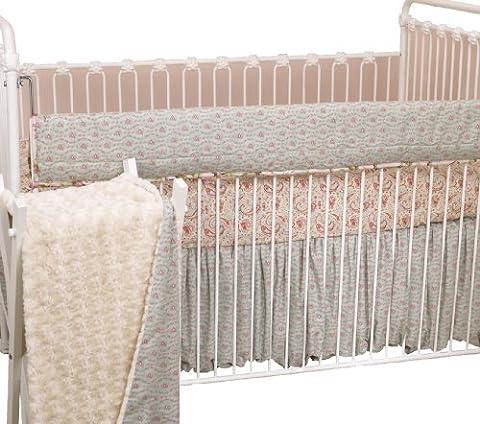 Cotton Tale Designs Front Rail Cover Up Set, Tea Party (Cotton Tale Tea Party Bedding)