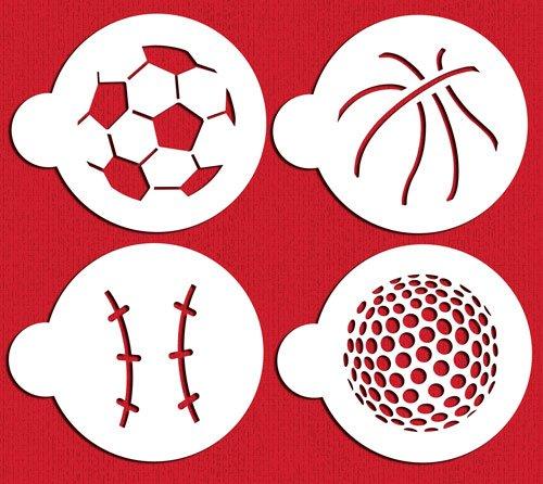 Amazon.com: Designer Stencils C218 Large Sports Ball Cookie Stencils ...
