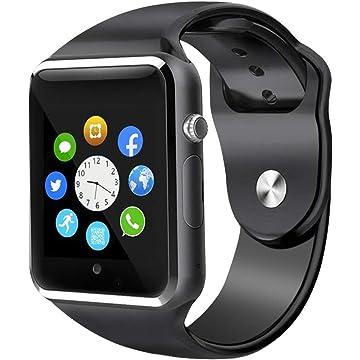 Smart Watch, Sazooy Bluetooth Touchscreen Smart Wrist Watch Smartwatch Phone Fitness Tracker with SIM SD