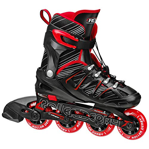 Roller Derby Boy's Stinger 5.2 Adjustable Inline Skate, Small ()