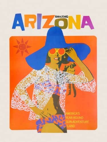 VISIT TEXAS TRAVEL FUN FASHION WOMAN LUGGAGE USA TOURISM VINTAGE POSTER REPRO