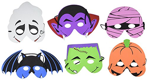 Foam Halloween Masks - 12pk ()