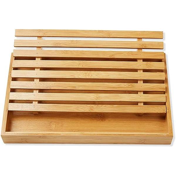 Tabla de cortar de bambú, fácil de limpiar, tamaño más grande 39,5 ...