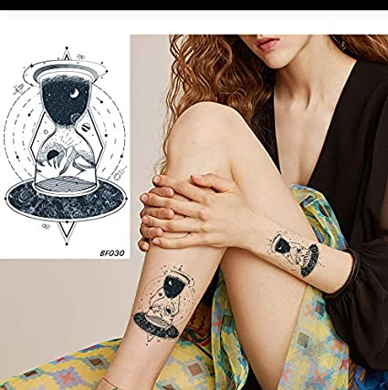 LFVGUIOP Creativo para niños Diseño de Tatuaje de Reloj de Arena ...