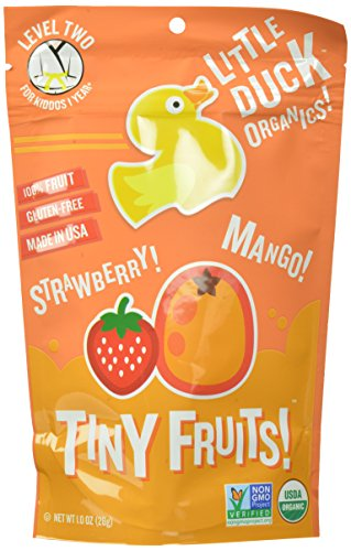 Little Duck Organics Tiny Fruits, Strawberry & Mango, 1-Ounce Pouches (Pack of 9)