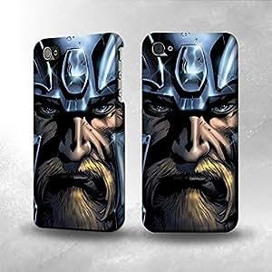 Apple iPhone 4 / 4S Case - The Best 3D Full Wrap iPhone Case - Viking God