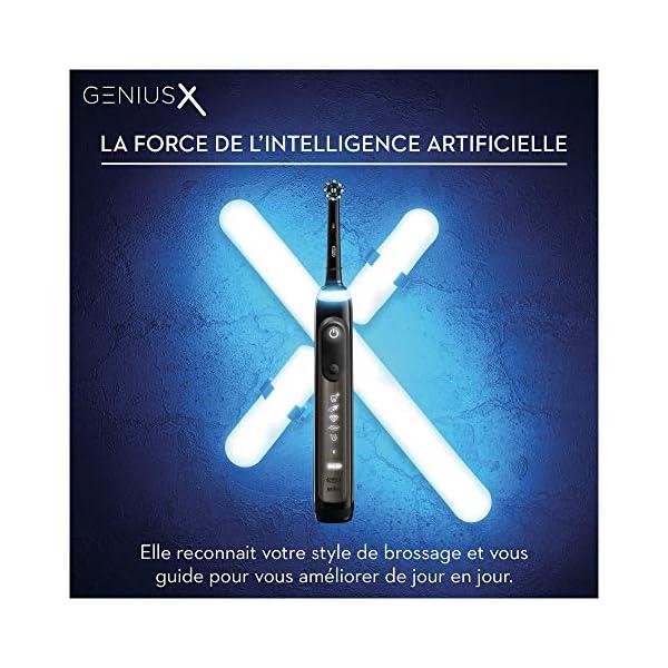 Oral-B Genius X – 20000 – Édition de Luxe, Brosse à Dents Électrique Rechargeable, 1 Manche Anthracite Premium avec…