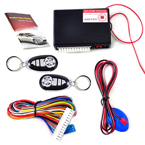 Black Spy Vs Spy Accessory Kit (GohEun Car Vehicle Keyless Entry System Central Door Lock Control 2 Remote Controller)
