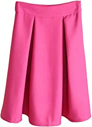 Eyekepper Womens Solid Vintage Women High Waist Full A Line Pleated Skirts