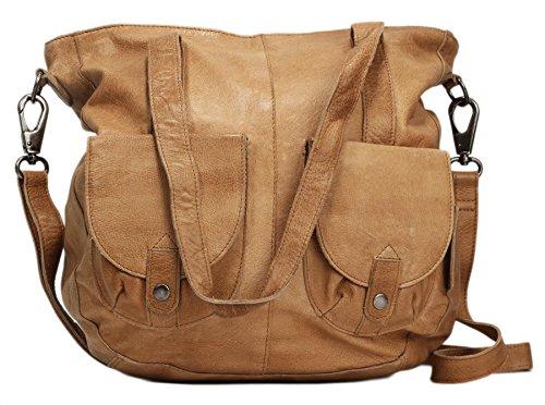Greenburry Stainwashed Shopper Tasche Leder 35 cm Camel