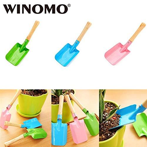 Shoppy Star WINOMO 3Pcs Premium Wooden Hand Trowel Homegrown Gardening Tool  Flowerpot Shovel Break Shovel Scoop for Garden Plant