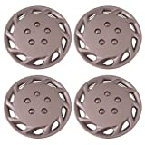 Set of 4 Silver 14 Inch Aftermarket Replacement Hubcaps with Clip Retention System - Part Number: IWCB877/14S by IWC