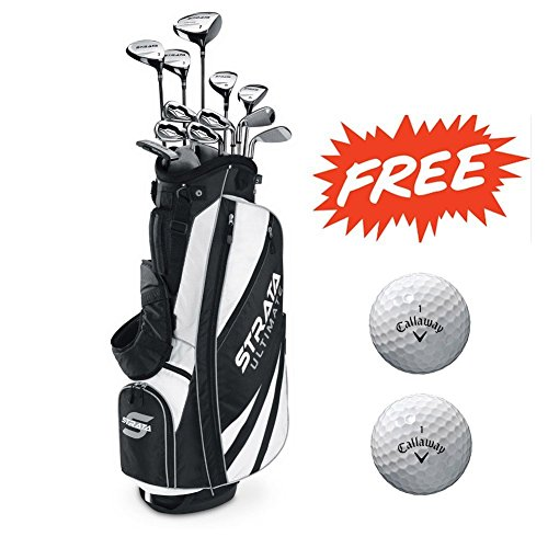 2 Golf Balls Set (Bundle:Callaway Men's Strata Ultimate Complete Golf Set, 18-Piece, Right Hand,with Two Balls)