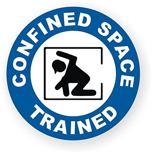 1 Pcs Excited Unique Confined Space Trained Window Sticker Sign Mac Apple Macbook Laptop Luggage Hoverboard Wall Graphics Permit Only Hard Hat Decor Vinyl Art Stickers Decal Patches Size 2'