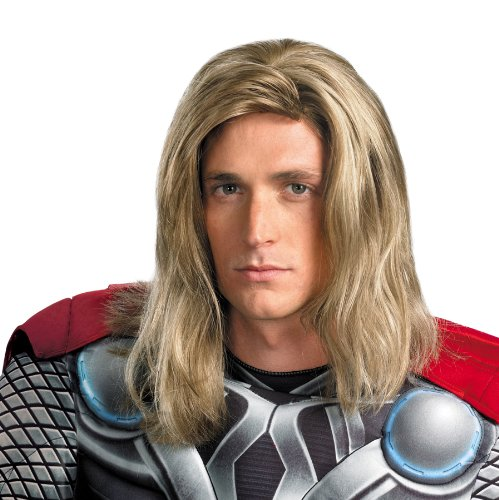 Marvel Disguise Men's Averngers Assemble Thor Wig, Blonde, One Size