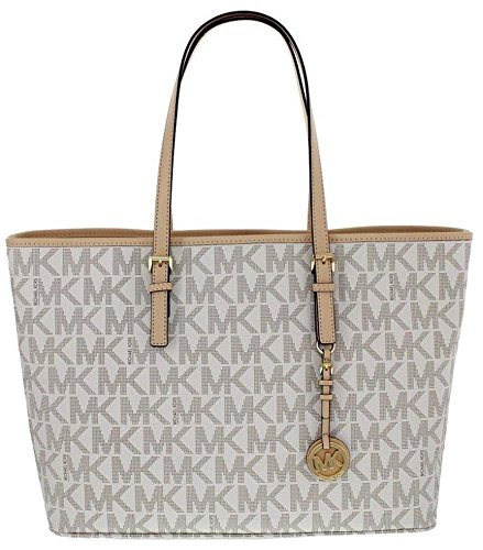 Michael Kors Jet Set Travel Monogram Logo Medium Tote (Jet Set Monogram)