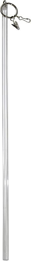 """34/"""" Versailles Home Fashions HF02-0 Acrylic Drapery Wand Pair Clearfrost"""