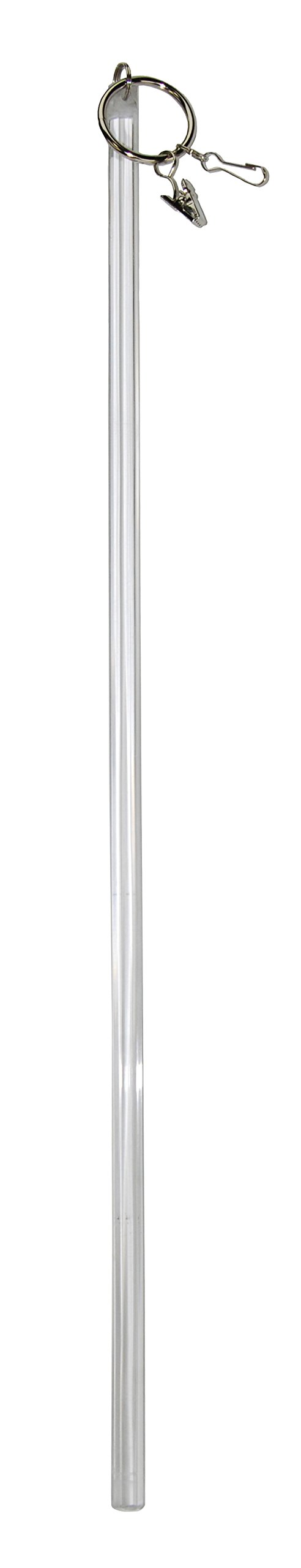 Versailles Home Fashions HF02-0 Acrylic Drapery Wand Pair, 34'', Clearfrost by Versailles Home Fashions