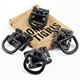 OneTigris 4 pcs Tactical 360 Rotation D-ring Clips MOLLE Webbing Attachment for Backpacks EDC