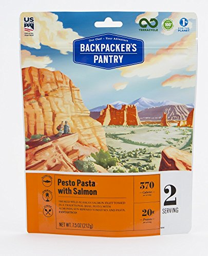 Backpacker's Pantry Pesto Salmon Pasta, Two Serving Pouch, (Packaging May Vary)​ (Dried Pasta)