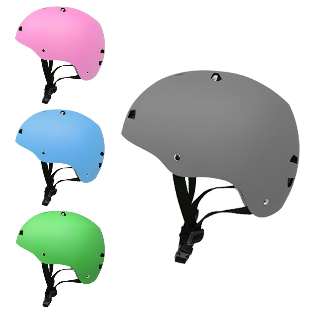 3Style Scooters® Multi-Sport Safety Helmet - For Stunt Scooting, Roller Skating, Skateboarding and BMX Riding - Adjustable Headband For Head Sizes 52cm - 56cm - Vented Design - Suitable For Children & Teens Aged 8, 9, 10, 11, 12, 13 & 14 Years Old